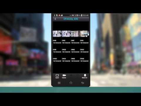 [IDIS Mobile] PTZ & Push Functions