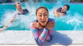 Video LAST TO LEAVE FREEZING POOL WINS $10,000 MP3, 3GP, MP4, WEBM, AVI, FLV Agustus 2019