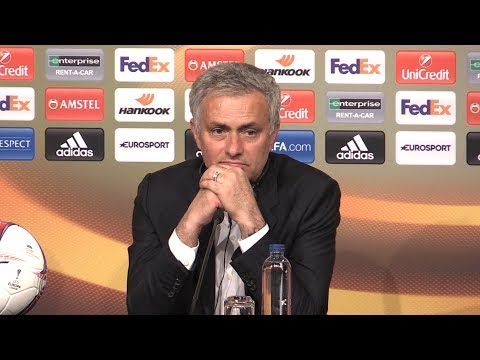 Jose Mourinho Full Press Conference After Manchester United Win The Europa League (видео)