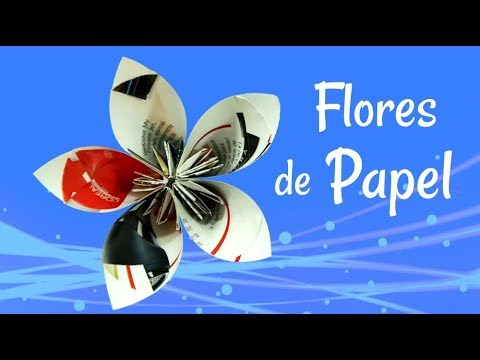 Flores de Papel - Como hacer flores con revistas. Recycling: How to make flowers with magazines Facebook: https://www.facebook.com/gustamonton Twiteer: https://twitter.com/#!/...