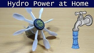 Hydro Power at Home  Hydroelectric Generator DIY