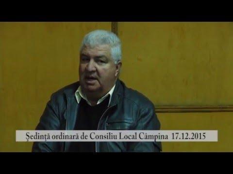 Sedinta Consiliul Local Campina – 17 decembrie 2015 – partea a III-a