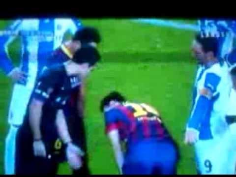 Messi free kick - barcelona vs espanyol 02/11/2013
