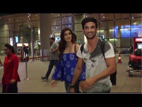 Kriti Sanon & Sushant Singh Rajput Return From Raabta Promotion Hydrabad