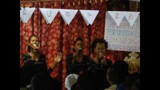 A Group Of Young Ladies Leading Worship:The Sunday Service@EECMY Yabello