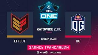Effect vs OG, ESL One Katowice, game 1 [Adekvat, V1lat]