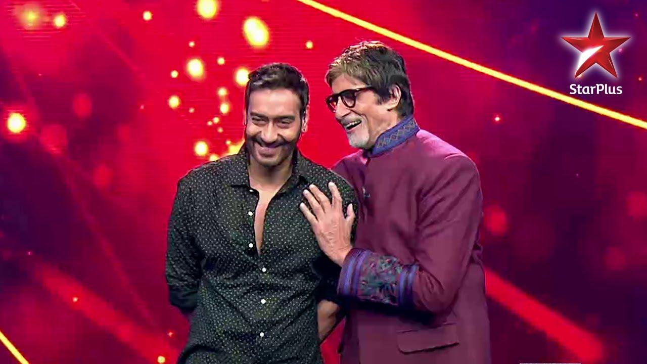 Ajay Devgn and Amitabh Bachchan share a fun moment
