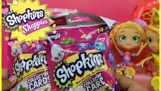 Hello princesses and welcome back :) We are so excited to have found the brand new Shopkins season 4 Collector Cards. Did you find the hidden Shopkins ? Thank you for watching!  Please don't forget to share this video with also your friends :DI hope you enjoy this video !~~~~~~~~~Follow me on~~~~~~~~~~~Facebook: https://www.facebook.com/pages/Fairly...Instagram:https://instagram.com/fairlyevi/Twitter:https://twitter.com/fairlyevi~~~~~~~~~~~~~~~~~~~~~~~~~~Thank you princesses for watching ❤️Remember Dreams do Come True!!_________Videos you will like ___________New Shopkins Go Shopping Card Game by Moose Toys Review https://www.youtube.com/watch?v=K1q-n...Shopkins Season 3 Food Fair Playset Sweet Treats Exclusive Shopkins Cupcake Collection Playset https://www.youtube.com/watch?v=oCueJ...Opening Shopkins Cool Casual Collection Playset Season 3 Fashion Spree https://www.youtube.com/watch?v=4ATzW...Opening Shopkins trading cards Deluxe Packs Bullsitoy https://www.youtube.com/watch?v=AHRCw...Shopkins Season 3 Playset Ballet Collection Fashion Spree w/ Exclusive Piano Music Box Toy Unboxing https://www.youtube.com/watch?v=hb8JF...Shopkins Stacking Challenge!! https://www.youtube.com/watch?v=vvFQZ...Shopkins Season 3 Mega 20 Pack Opening! https://www.youtube.com/watch?v=BPHCn...ALL NEW SHOPKINS - COLLECTOR TRADING CARDS OPENING! By Bulls-i-Toy https://www.youtube.com/watch?v=JHhnP...SHOPKINS SEASON 3 - Blind Baskets Plus 5 pack Opening https://www.youtube.com/watch?v=x_b5j...Fairly Evi is a SUPER FUN KID FRIENDLY channel for kids of ALL ages to watch! I like to review and open  Princess Dolls,Play Doh, Spongebob, Angry birds, Barbie, My little pony, LEGO, Talking Tom, Kinder surprise eggs with collecting toys inside, Orbeez sets, Cinderella, despicable Me, Minions, Shopkins. PeppaPig Pocoyo Bubble Guppies!!! I love Play Dough, DisneyFrozen, DisneyPrincess, GlitterGlider dolls, MagiClip dolls, Shopkins, , Hello Kitty ハローキティ, Sofia the First, BARBIE バービーPlease SUBSCRIBE Don'