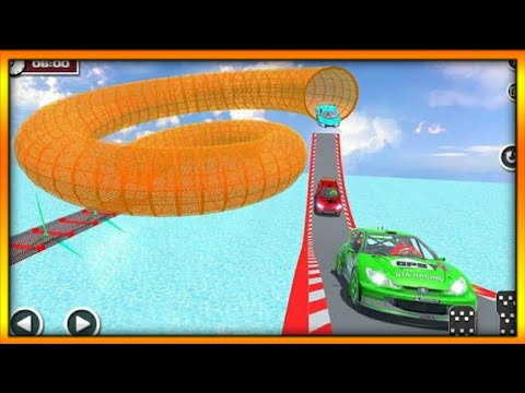 Ultimate Racing Derby Fast Green Sports Car Stunts 3d Game #7 | By Wow Kidz Gamedy