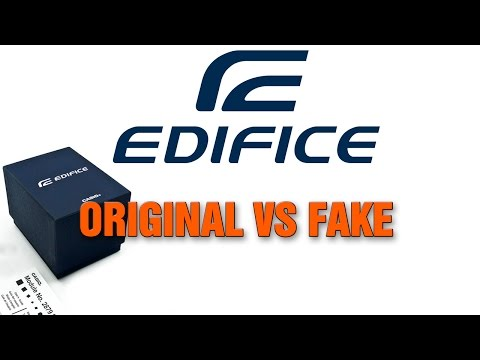 Casio Edifice - Original vs Fake или Как отличить копию от оригинала (видео)