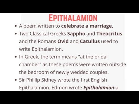 epithalamion   Notes, Summary, Analysis   Edmund Spenser
