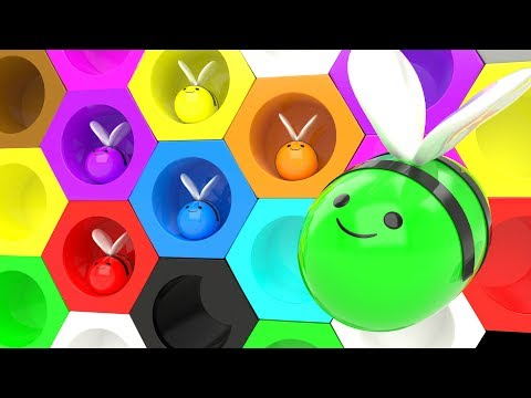 Learn Colors for Kindergarten with Honey  Bee Beehive Toys Kids Children Toddler Learning Education