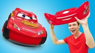 Тачки и игры гонки - Супер прокачка для Молнии Маквина! – Видео с игрушками в Автомастерской.