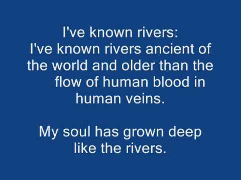The negro speaks of rivers poem