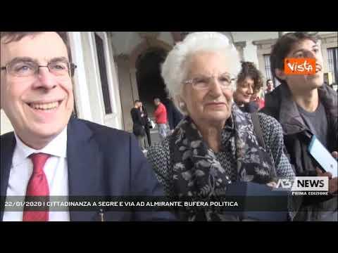22/01/2020 | CITTADINANZA A SEGRE E VIA AD ALMIRANTE, BUFERA POLITICA