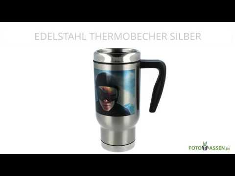 Edelstahl Thermobecher Silber