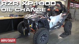 9. Polaris RZR XP 1000 Oil Change