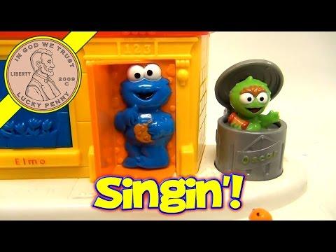 Sesame Street Singing Pop Up Pals, Ernie, Elmo, Cookie Monster, Oscar The Grouch, Slimey The Worm
