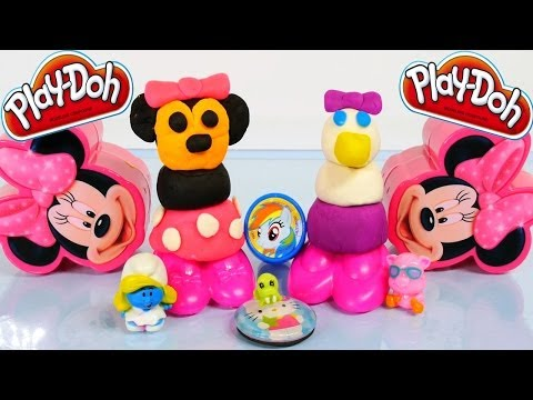 minnie - Hasbro Toys Disney Junior Play-Doh Minnie Mouse and Daisy Duck Playdough Makeables. This Play Doh toyset has 4 Step-by-Step Creations to make your favorite M...