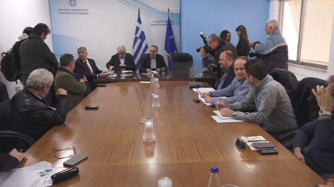 Τελείωσε η συνάντηση των συνδικαλιστών με τους υπουργούς Εσωτερικών, Παιδείας και Κοιν. Αλληλεγγύης