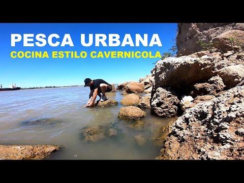 """Pescado asado estilo cavernicola. """"Pesca y cocina"""", PESCA URBANA 2020"""