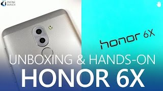Honor 6X unboxing with hands-on impressions on camera with samples, USB OTG, build and performance. The Honor 6X has been launched in the US (no NFC) and will come to India soon. It packs a 5.5-inch 1080p display, Kirin 655 processor, 3/4 GB RAM, 32/64GB storage which is expandable. It has 12MP + 2MP dual rear cameras, which allow for some pretty cool effects.The Honor 6X has been priced at $250 and should come to India under Rs. 15000. This video features the 3GB RAM variant.Camera Samples and more details - http://2pb.in/Honor6XUnboxingSubscribe on YouTube, to get videos first:http://www.youtube.com/subscription_center?add_user=PhoneBunchFollow PhoneBunch:http://www.phonebunch.comhttp://www.facebook.com/phonebunchhttp://www.twitter.com/phonebunchFollow Abhinav Pathak (Editor):https://www.facebook.com/Abhi.IKnowIThttp://www.twitter.com/exoleteIntro Music:Funk City by Reatch https://soundcloud.com/reatchCreative Commons — Attribution 3.0 Unported— CC BY 3.0 https://creativecommons.org/licenses/by/3.0/