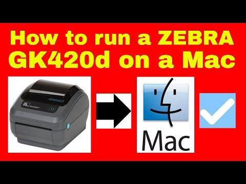 How to run a Zebra GK420d Thermal printer on a Mac - Installing a Zebra Printer on Apple Mac GK420