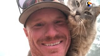 Cat Is So Grateful Firefighter Saved His Life | The Dodo by The Dodo