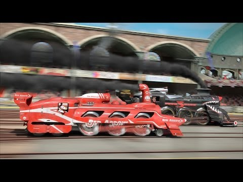 steam - The Great Steampunk Race! Only the best of the best race steam trains have reached the final. Red Arrow accept a challenge of Iron Shark. Black villain is re...