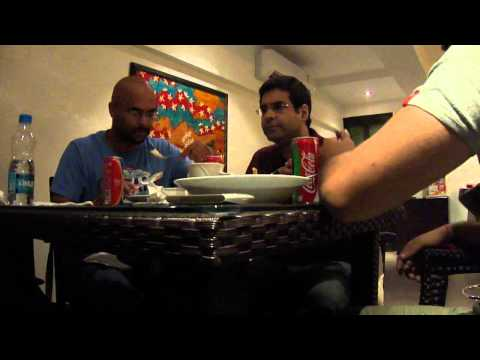 Improv Comedy Dining Table Conversation