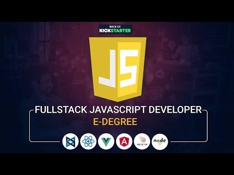 Fullstack Javascript Developer Edegree | Kickstarter | Upcoming Project | Eduonix