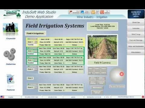 Wine Production Application built in InduSoft Web Studio