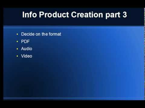 Info Product Creation Part 3 – Deciding on the format for your info product