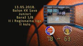 kk sava kk cerak 78 63 (juniori, 13 05 2018 ) košarkaški klub sava