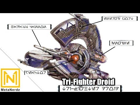 In-Depth Breakdown - Tri-Fighter Droid - Tri-Droid Fighter Explained - Star Wars CIS Ships