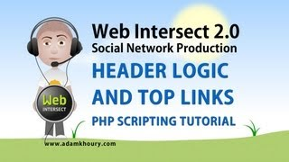 11. Header Logic Dynamic Links PHP MySQL Website Tutorial Free Example Script