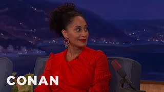 """When Tracee got too silly at the dinner table, her mother would send her outside to get her """"wiggles out.""""More CONAN @ http://teamcoco.com/videoTeam Coco is the official YouTube channel of late night host Conan O'Brien, CONAN on TBS & TeamCoco.com. Subscribe now to be updated on the latest videos: http://bit.ly/W5wt5DFor Full Episodes of CONAN on TBS, visit http://teamcoco.com/videoGet Social With Team Coco:On Facebook: https://www.facebook.com/TeamCocoOn Google+: https://plus.google.com/+TeamCoco/On Twitter: http://twitter.com/TeamCocoOn Tumblr: http://teamcoco.tumblr.comOn YouTube: http://youtube.com/teamcocoFollow Conan O'Brien on Twitter: http://twitter.com/ConanOBrien"""