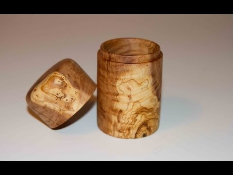 Wood Turning Olive Wood Box