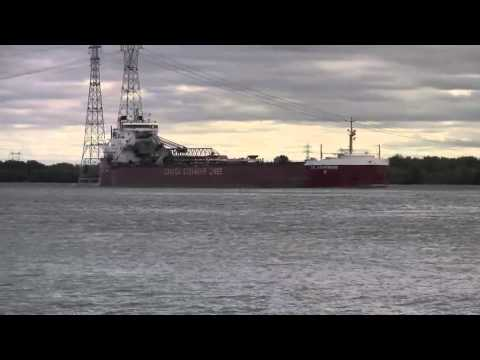 CANADIAN SHIP IN BEAUHARNOIS LOCK