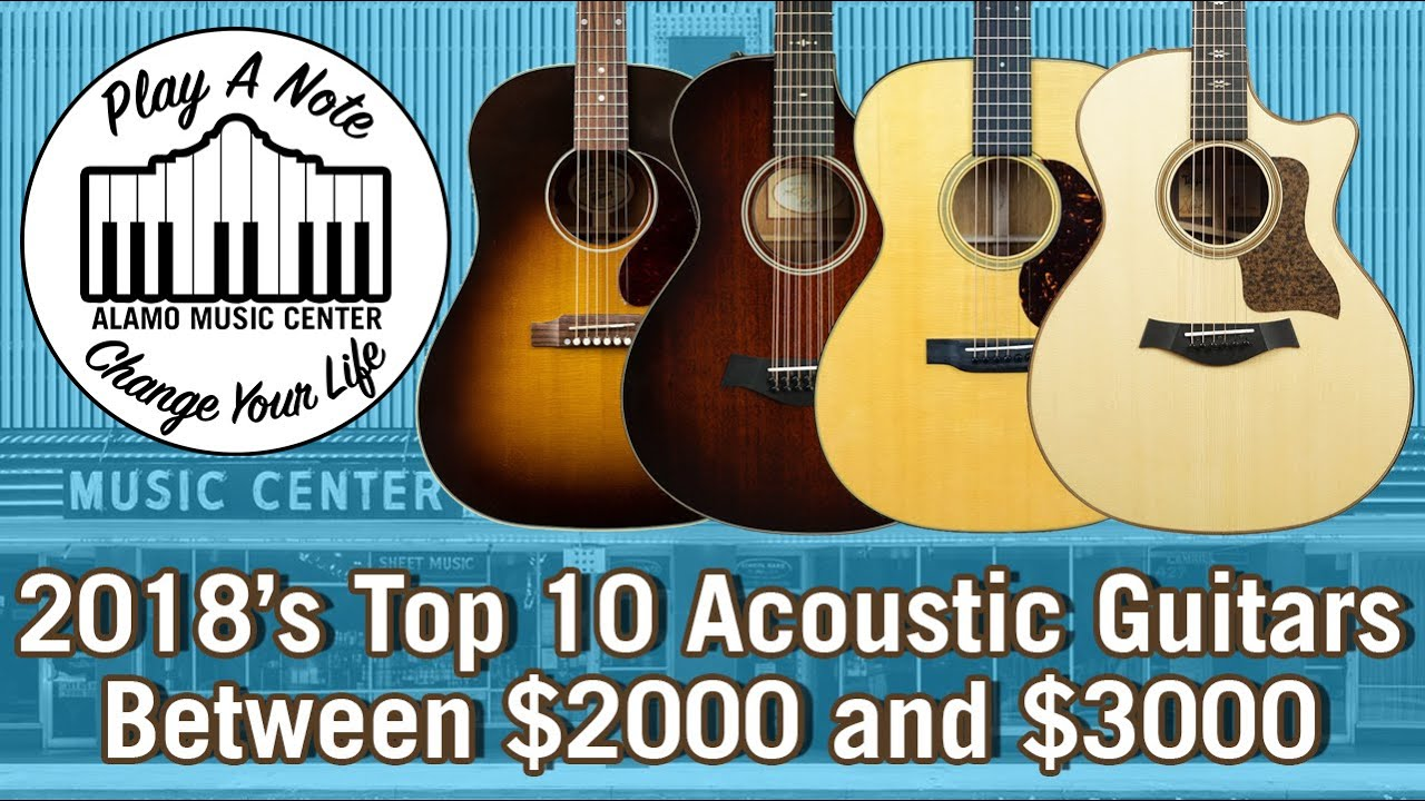 2018's Top 10 Acoustic Guitars Between $2000 and $3000 – Martin, Taylor, Gibson