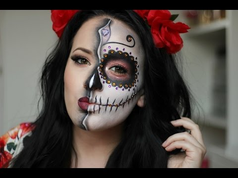 Sugar Skull/Day of the Dead Makeup Tutorial ~ HALLOWEEN 2015 / NYX CROATIA FACE AWARDS 2016