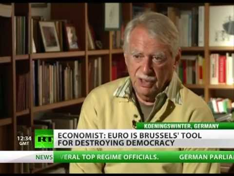 Euro (Currency) - RT's Oksana Boyko interviews economist and author Wilhelm Hankel RT LIVE http://rt.com/on-air Subscribe to RT! http://www.youtube.com/subscription_center?add...