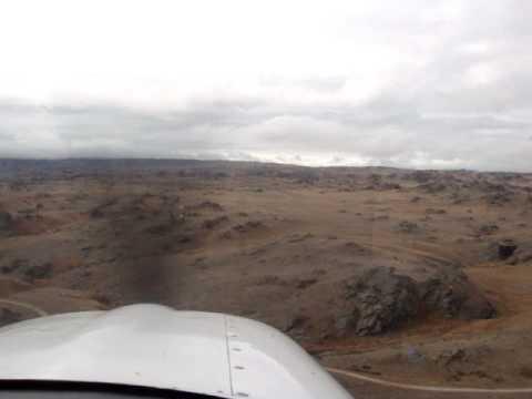 Landing on runway 05 at Poolburn strip Otago New Zealand