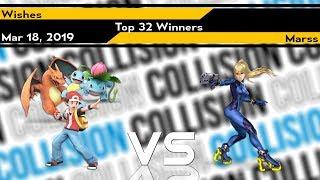 [Smash Ultimate] Collision 2019 (Top 32) - Marss (Zero Suit) vs Wishes (Pokemon Trainer)