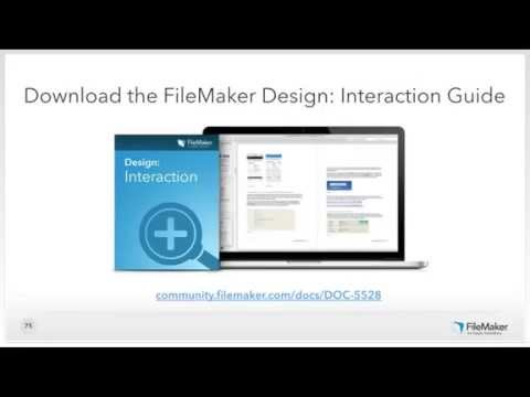 FileMaker Web Seminar: Essential Design Principles