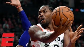 Kawhi Leonard leads the Raptors to victory vs. Joel Embiid and the 76ers | NBA Highlights