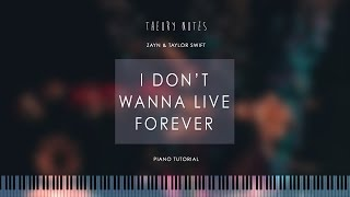 Video How to Play ZAYN & Taylor Swift - I Don't Wanna Live Forever   Theory Notes Piano Tutorial download in MP3, 3GP, MP4, WEBM, AVI, FLV Februari 2017