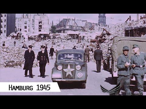 1945: Hamburg im Sommer 1945 (in Farbe und HD)