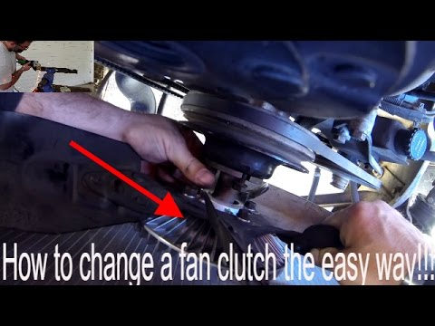 How to replace a fan clutch on a 1989 Dodge RamCharger