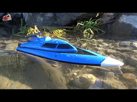 RC Mini-Boot Barracuda, Testfahrt im See, HD,
